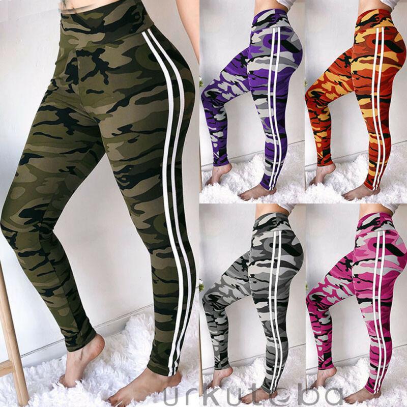 Goocheer 2019 New Jogger Pants Womens Pants High Waist Fitness Leggings Run Gym Camo Trouser Workout Women Slim Trousers in Leggings from Women 39 s Clothing