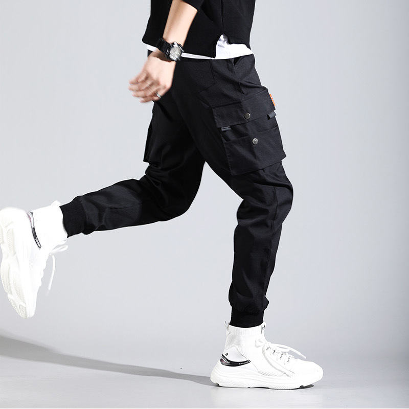 Spring MEN'S Overalls Men's Popular Brand Shawn Harem Pants Beam Leg Students Casual Pants MEN'S Trousers