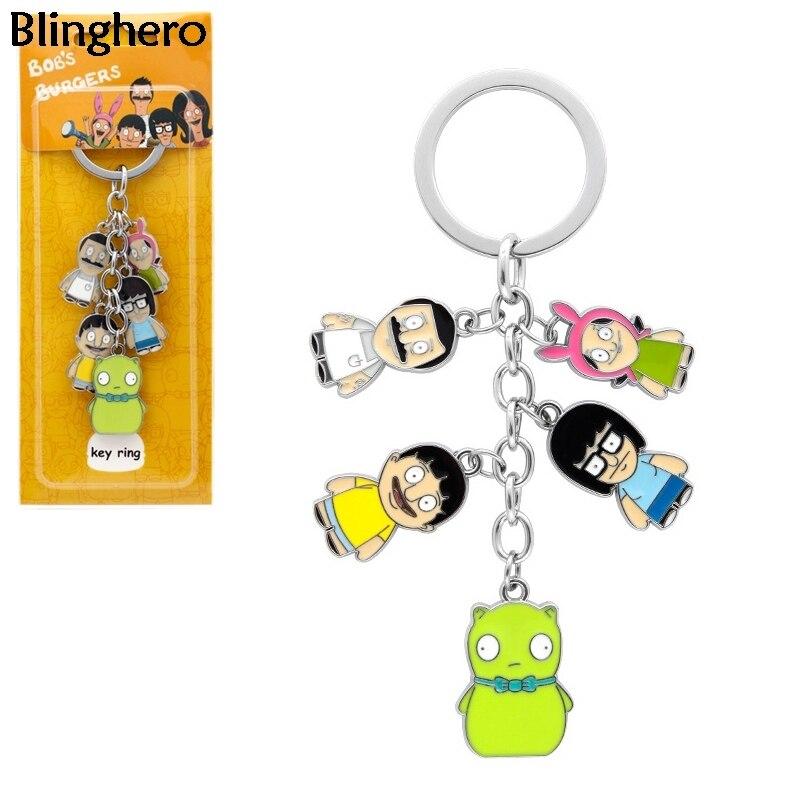 Blinghero Cool Cartoon Pendant Keychain Key Chain Anime Metal Pendant Keyring Key Holder Cool Gift For Friends BH0622