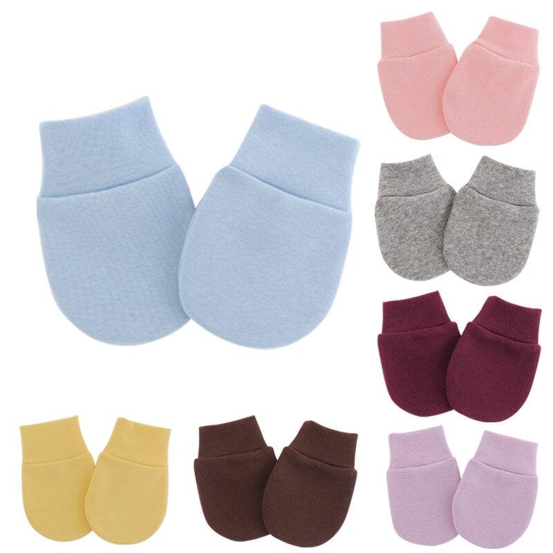 Простые милые детские перчатки, перчатки для новорожденных с защитой от еды, перчатки для защиты лица, Детская рукавица
