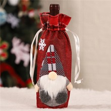 New Drawstring Decorative Wine Bottle Covers Treat Bags Christmas Holid