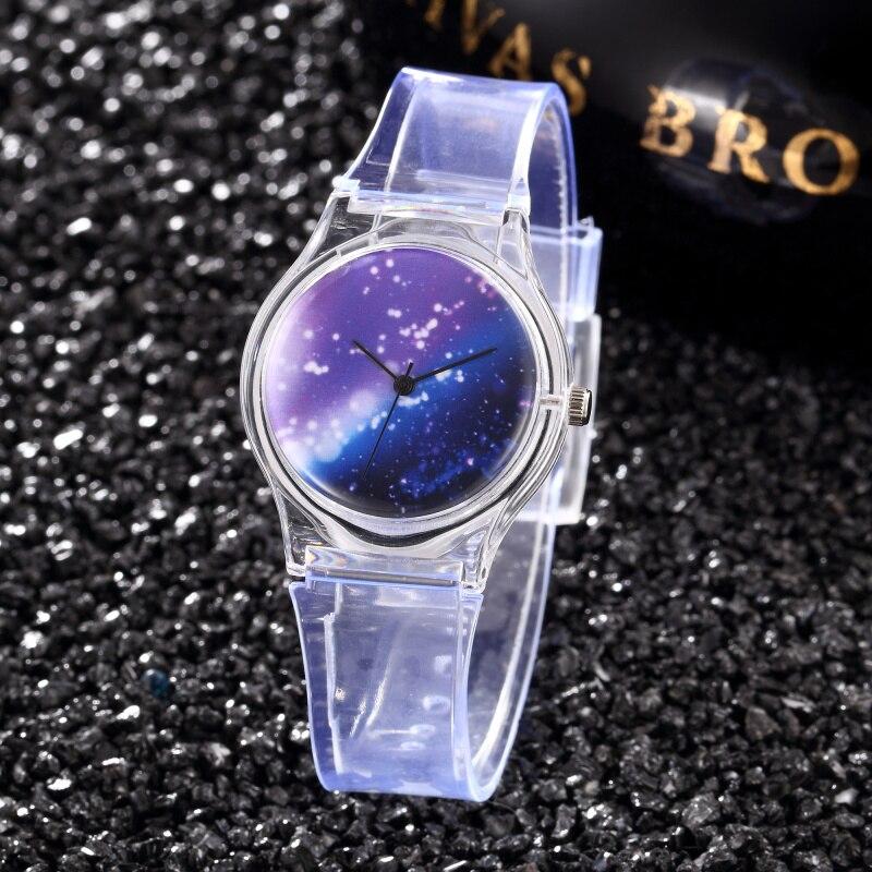 Children's Watch Creative Watch Silicone Transparent Strap Analog Quartz Clock For Girls Kids Gift Hot Montre Enfant