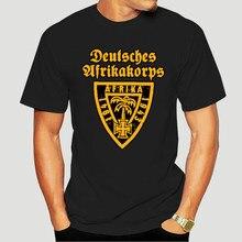 Mannen Deutsches Afrikakorps Dak Embleem Wehrmacht T-shirts Tank Tijger Panzer Korte Mouw Tee Shirt 4XL 5XL T-Shirts-5456A