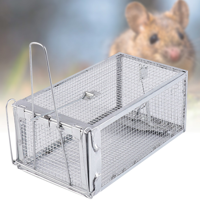 Rat Trap Live Chipmunk Mouse Cage Trap Bait Rodent Repeller Catch for Indoor Outdoor VJ-Drop image
