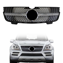 Diamante frente Styling Grill Grille Para Mercedes Benz GL-Classe X164 GL320 GL350 GL450 2006 2007 2008 2009 2010 2011 2012 ABS(China)