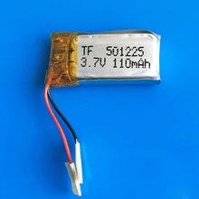 501225 3.7V 110mAh akumulator litowo-polimerowy do MP3 MP4 MP5 GPS zestaw słuchawkowy bluetooth wideo długopis cyfrowy productors