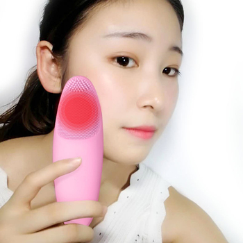 Electric Facial Cleansing Massage Brush Waterproof Skin Friendly Silicone Face Cleansing Brush Vibration Skin Care фото