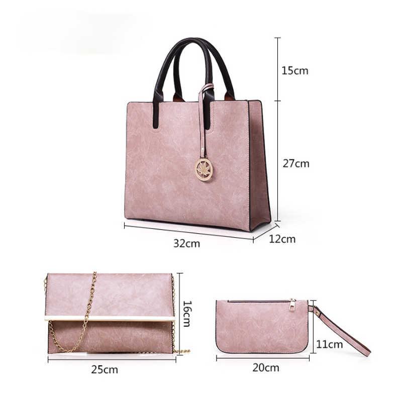 Большая емкость 3 шт./компл. для женщин сумка через плечо сумка из ПУ кожи композитные сумки с верхней ручкой для женщин, женские сумки на плечо, через плечо