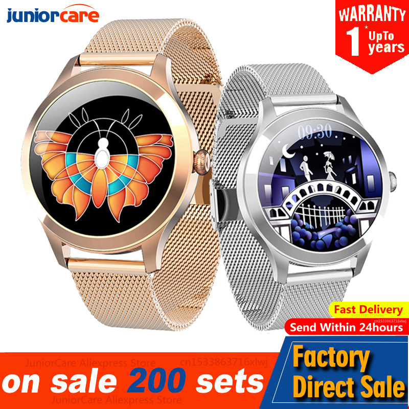 Смарт-часы KW10 Pro женские с сенсорным экраном 240*240, IP68, пульсометром и мониторингом сна