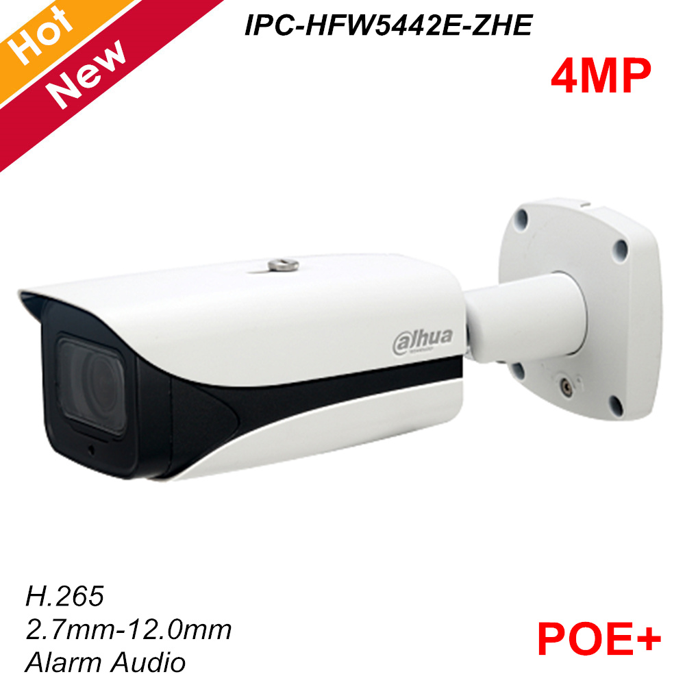 Dahua New 4MP Poe Network Security Camera IP67 H.265 Motorized Lens 2.7mm-12.0mm IR 50m Support Alarm Audio SC Card IP Camera