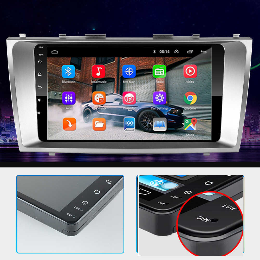 2din 9 cal 2.5D Android 9.1 samochodowe radio odtwarzacz multimedialny 2 DIN radio samochodowe nawigacja GPS dla Toyota Camry 2007 2008 2009 2010 2011