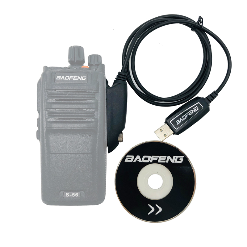 Waterproof Original Baofeng USB Programming Data Cable With CD Software For Pofung Walkie Talkie UV-XR A-58 UV-9R Plus BF-9700