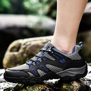 Image 5 - חדש מכירה לוהטת סופר אור נעליים יומיומיות גברים קיץ לנשימה ספורט נעלי ריצה רך נוח Mesh סניקרס שחור הנעלה 47