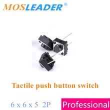 Mosleader 6x6x5 1000pcs 2P no meio 6*6*5 tátil botão interruptores DIP Made in China de Alta qualidade