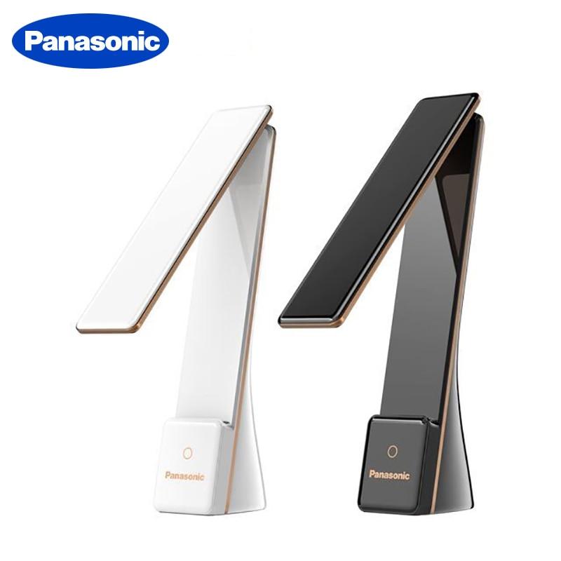 Panasonic LED Desk Light Touch Sensor Folding Table Lamp Portable USB Rechargeable Reading Light Night Bedside Light