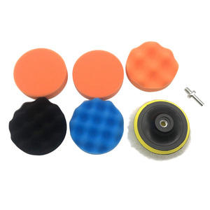7pcs Buffing Pad Set 5 inch Auto Car Polishing Buffing Pads for Car Polisher + M14 Drill Adapter Power Tools accessories