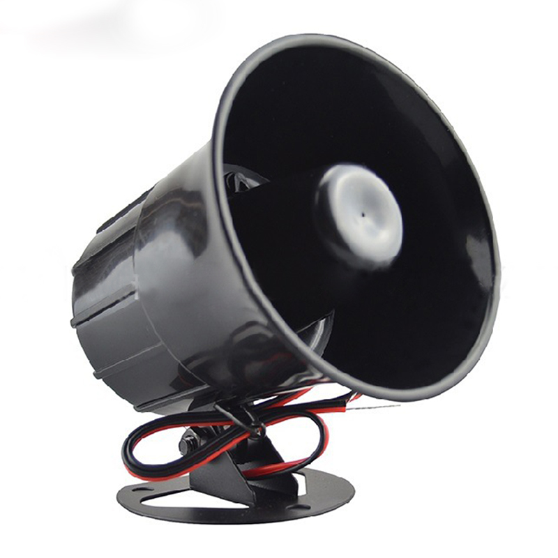 Outdoor DC 12V Wired Loud Alarm Siren Horn With Bracket For Home Security Protection System @M23