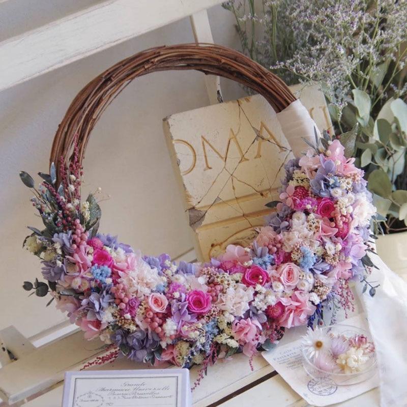 MEIDDING Wedding Decoration For Weddings 10-30cm Rattan Wreath DIY Wedding Wreaths Home Door Decor Ornaments Garland Easter
