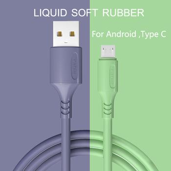 HICUTE płynny kabel ładujący do Samsung Android szybka ładowarka magnetyczna Micro USB typ C kabel przewód do telefonu komórkowego tanie i dobre opinie TYPE-C CN (pochodzenie) USB A