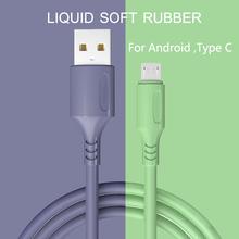 HICUTE płynny kabel ładujący do Samsung Android szybka ładowarka magnetyczna Micro USB typ C kabel przewód do telefonu komórkowego tanie tanio TYPE-C CN (pochodzenie) USB A