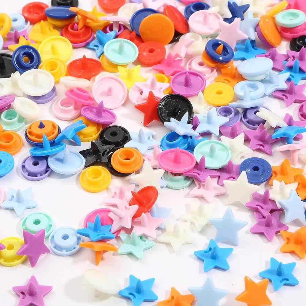 10 zestawów KAM guziki T5 plastikowy guzik zatrzaskowy 12MM gwiazda/serce kształt Sanp łączniki dla dziecka klipsy do ubrań dodatki do odzieży przycisk