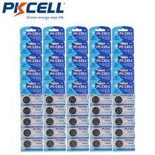 125 pces pkcell cr2032 3v bateria da moeda da pilha do botão de lítio 210mah dl2032 2032 kcr2032 5004l para a calculadora esperta do relógio