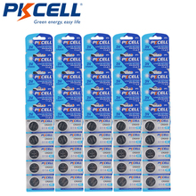 125Pcs PKCELL CR2032 3V Lithium Button Cell Coin Battery 210mAh DL2032 2032 KCR2032 5004L For Smart Watch Calculator
