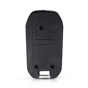 Image 5 - KEYYOU Modified Remote Car Key Shell Fob For Peugeot 307 107 207 407 Citroen C2 C3 Xsara 2 Buttons Key Case HU83/VA2/NE73 Blade