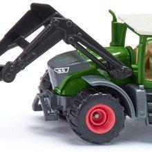 Traktor, Metall/Kunststoff, Grn, Ballenzange und abnehmbare Kabine