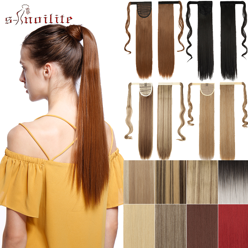 BENIHAIR Ombre Ponytail Straight Clip In Hair Tail Synthetic Hair Extension Clip In Drawstring Ponytail Hairpiece False Hair