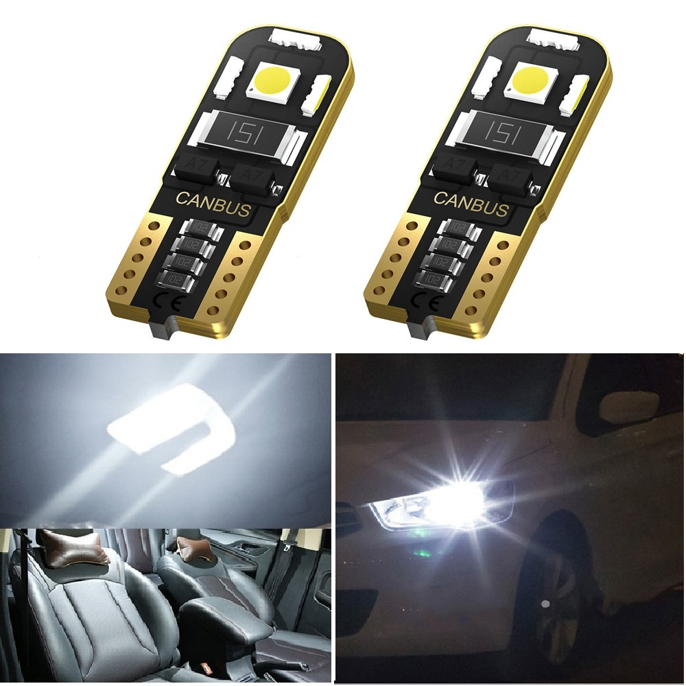 2pcs W5W <font><b>T10</b></font> <font><b>LED</b></font> <font><b>Canbus</b></font> Bulbs For Volkswagen <font><b>VW</b></font> Transporter Multivan T4 T5 T6 2014 2015 Car Parking Light Interior Reading Lamp image