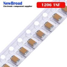 100pcs 1nF 50 X7R Erro 10% V 1206 102 smd capacitor
