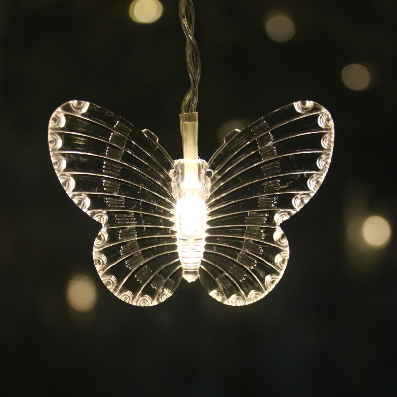 3.5M LED Curtain  Butterfly Icicle Fairy String Light Christmas Light For Wedding Home Window Party Decor-KK55
