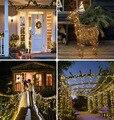 Светодиодные рождественские украшения, водонепроницаемая уличная гирлянда, Рождественская гирлянда на солнечной энергии для украшения са...