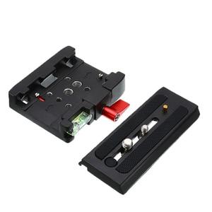 Image 4 - Wysokiej jakości dla Manfrotto 577 501 500AH 701 aluminium płyta szybkiego uwalniania montaż P200 adapter zaciskowy statyw kamery akcesoria