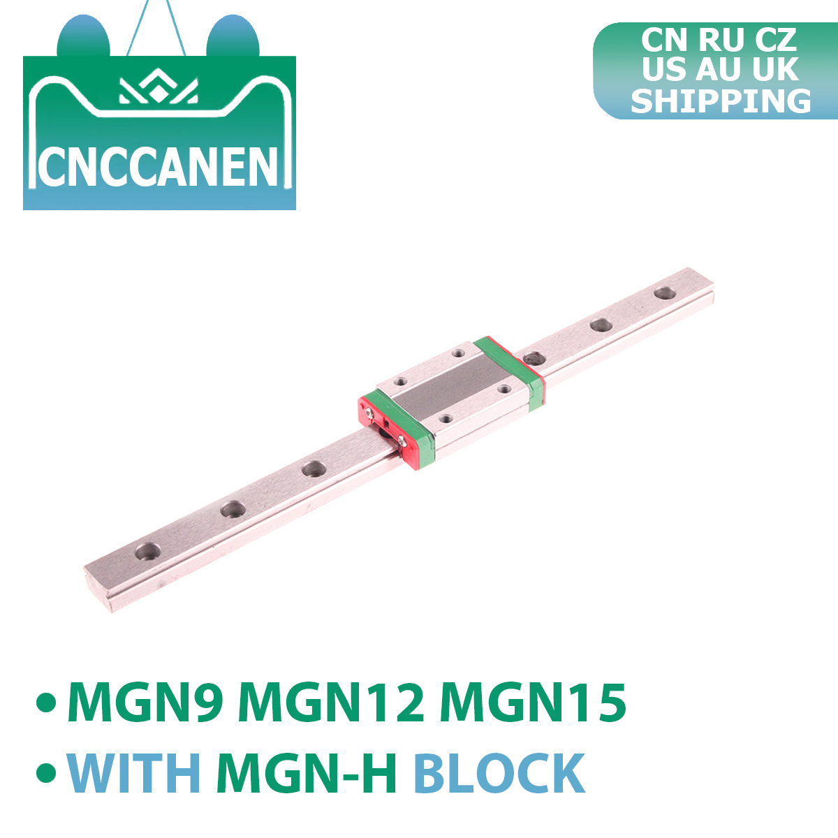 CNC 3D Printer MGN9 MGN12 MGN15 Miniature Linear Rail Slide 100 - 1000mm MGN Linear Guide + MGN9H MGN12H MGN15H Carriage Block