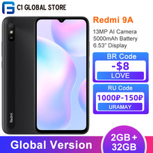 Versão global xiaomi redmi 9a 2gb 32gb smartphone mtk helio g25 octa núcleo 6.53