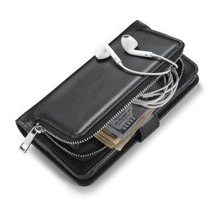 Image 3 - Cerniera Portafoglio Caso eather Per iPhone se2 se 2 2020 11 Pro Max Xr X caso della copertura di vibrazione su iphone xs max 7 8 6 6s plus Coque Cordino