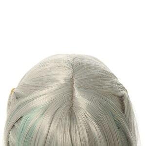 Image 4 - L Email Tóc Giả Nene Yashiro Cosplay Bộ Tóc Giả Jibaku Shounen HANAKO Côn Cosplay Dài Màu Xám Xanh Thẳng Chịu Nhiệt tóc Tổng Hợp