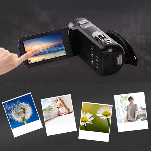 Wholesale Black Gold Portable Full Hd 1080p Night Vision Digital Video Camera with Remoter Camcorders Home Outdoor Traveling Use 3