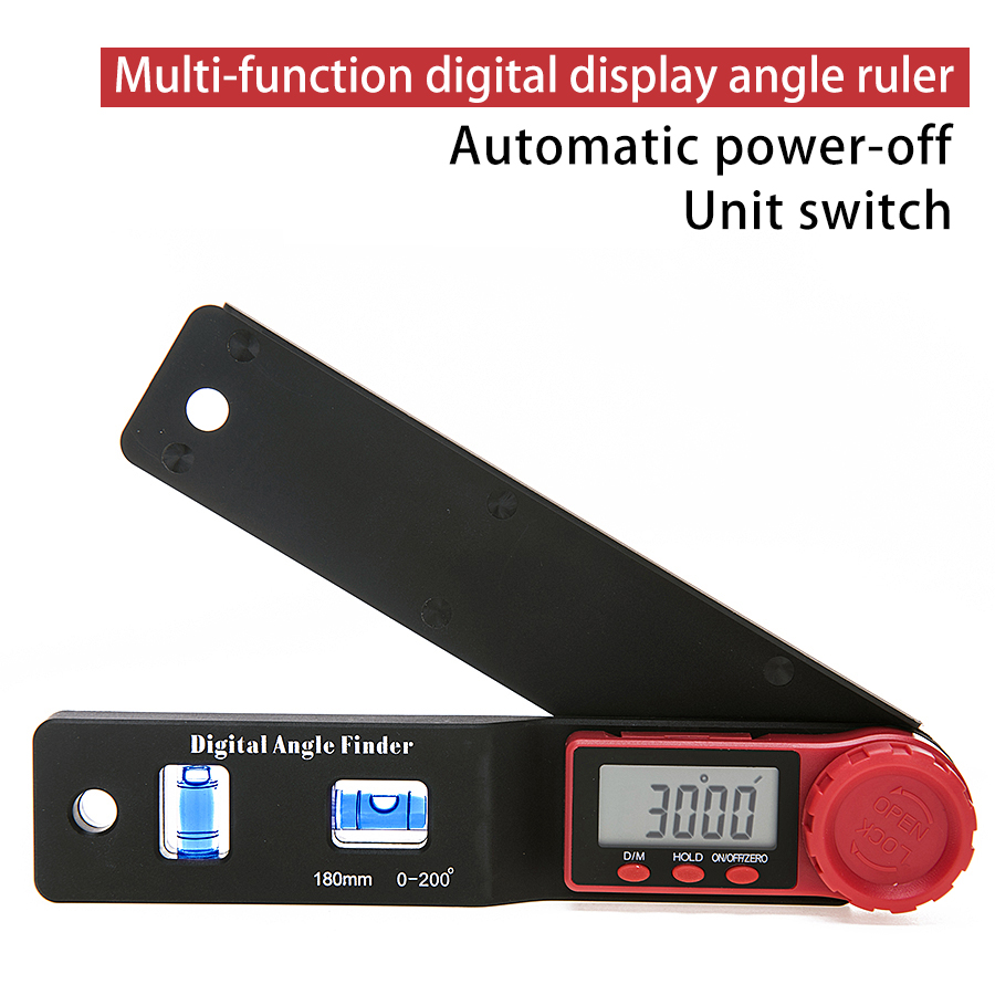 2 in 1 Digital Meter Angle Inclinometer Spirit level Angle  Ruler Electron Goniometer Protractor Angle finder Measuring Tool