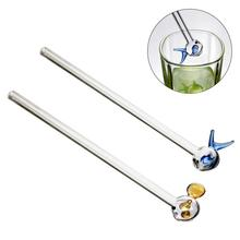 Reusable Wedding Birthday Party Lovely Smoothie Juice Water Fish Glass Straw