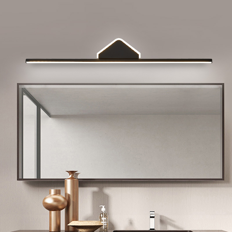 0.4M~0.8M Black/White Finished Modern LED Mirror Lights Bathroom Washroom Mirror 90-260V Mirror lamp Fixture free shipping