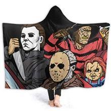 3d одеяло с капюшоном персонаж из фильма «ужасы» для взрослых