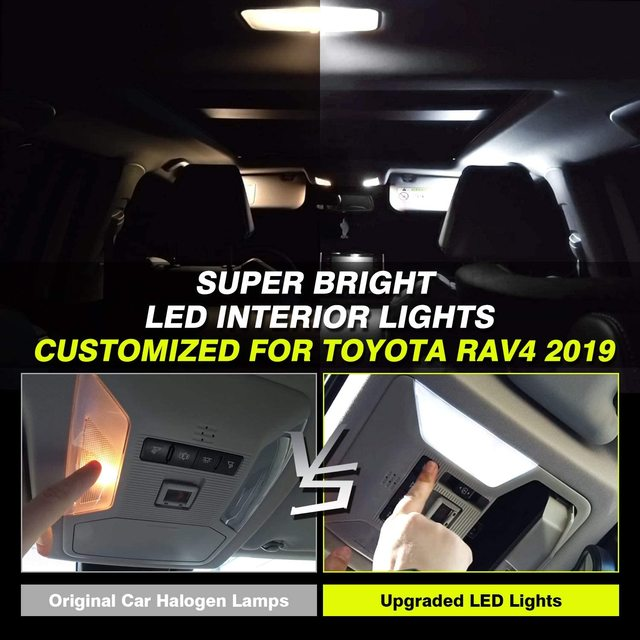 for Toyota Prius 30 XW30 ZVW30 V α 2010~2015 Night Interior Lamps Dome Roof lights LED 4x4 Trunk Reading Lamp White Canbus Bulbs 2