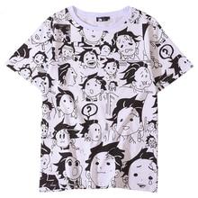 Anime Dämon Slayer Kimetsu Keine Yaiba Tanjiro Kamado Cosplay Kostüme T shirt Herren T shirts Lustige Halloween Party Für Frauen CS076