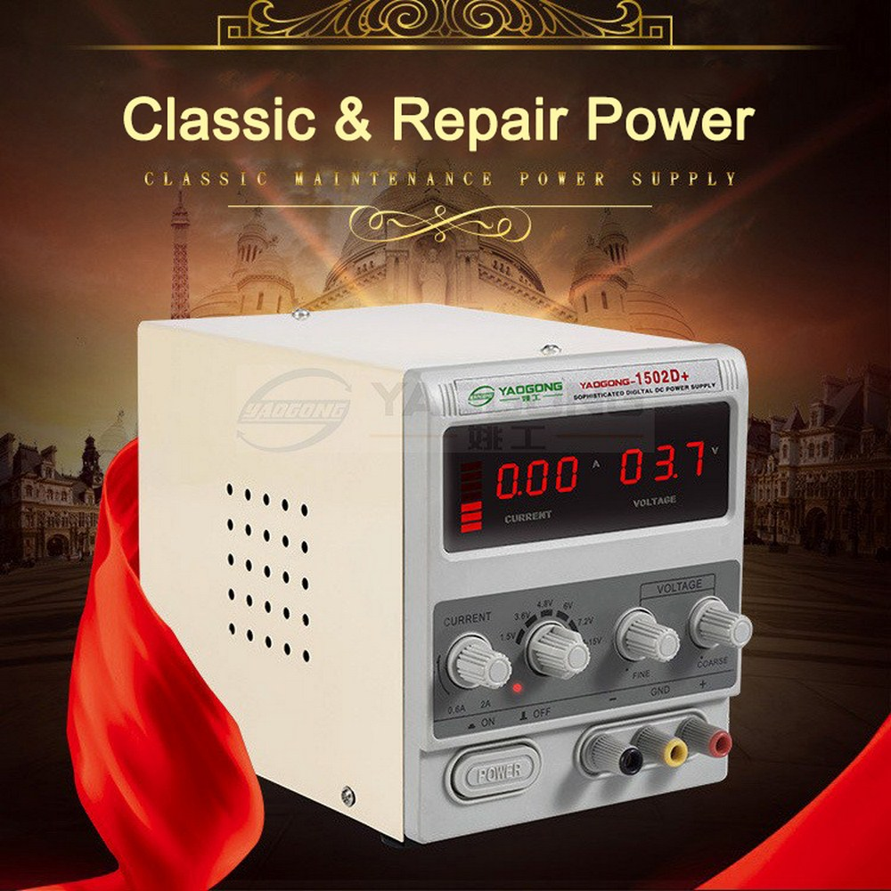 15V 2A DC Power Supply Adjustable 3 Digit Display Mini Laboratory Power Supply Voltage Regulator <font><b>1502D</b></font> For Phone Repair image