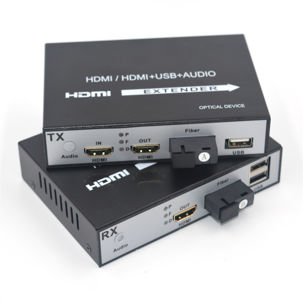 High Quality HDMI Extender, HDMI over Fiber optic media converters with KVM USB2.0 and loop out,HD 1080p HDMI over Fiber up 20Km-in Fiber Optic Equipments from Cellphones & Telecommunications