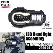 Chegada nova! motocicleta led faróis projetor para bmw r1200gs 2004 2012 r 1200gs adv aventura 2005 2013 moto luzes montagem