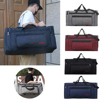 Travel Duffel Bag Carry on Luggage Men Tote Large Capacity Weekender Gym Sport Holdall Overnight  Outdoor Men's - discount item  46% OFF Fitness & Body Building